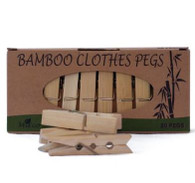 Bamboo Clothes Pegs- 20 Pack