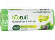 Biotuff MEDIUM Compostable Bin Liners- 25 Bags