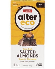 Chocolate Dark Salted Almonds - 80g