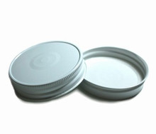 Plastisol Mason Jar Lid - White HI HEAT Button