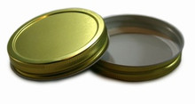 Plastisol Widemouth Mason Jar Lid - Gold