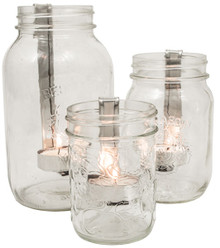 Mason Jar Candle Holders