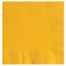 Yellow Beverage Napkins