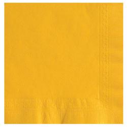 Yellow Beverage Napkins