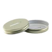 Widemouth Mason Jar Coin Lid