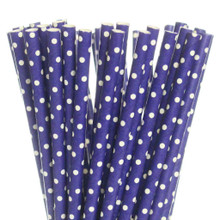 Dark Purple Swiss Dots