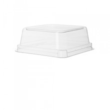 Sugarcane Take-Out Container Lids for 5 inch Square