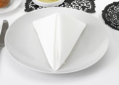 White Nu-Linen Airlaid FlatNap Dinner Napkin