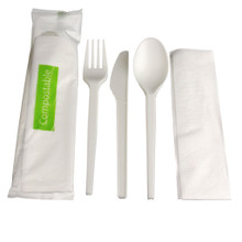 Compostable Cutlery Kit - 4pc