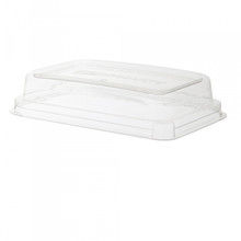 Sugarcane Take-Out Container Lids for 16oz Rectangle with vent holes