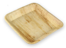 Palm Leaf Deep Plates - 7 in Square