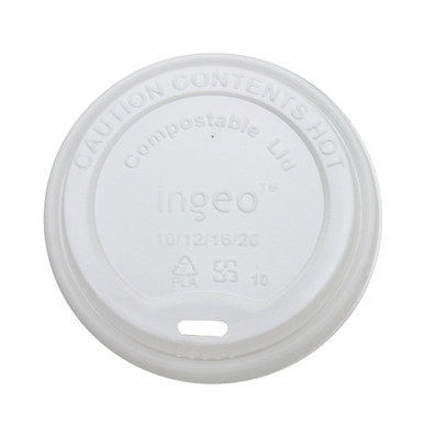 White Compostable Hot Cup Lids