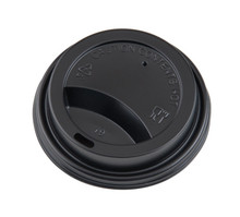 Hot Cup Lids - Black - 8oz