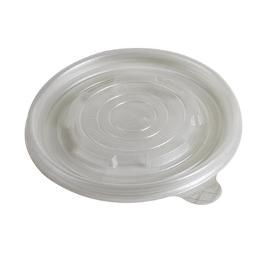 Vented lid for 12->16oz paper soup containers