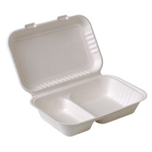 2 Compartment Sugarcane Clamshell