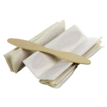 Individually Wrapped Wooden Bowtie Ice Cream Sticks - 5""
