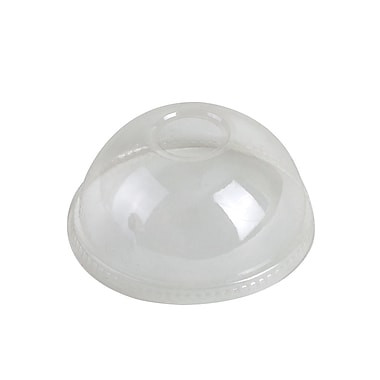 Compostable dome lid for paper food containers