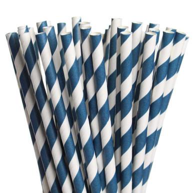 Dark Blue Paper Straws