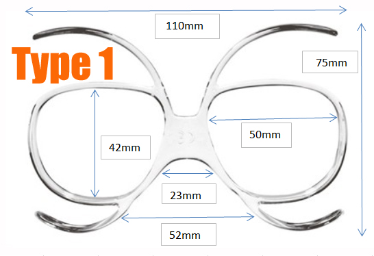 Prescription Ski Goggles Insert