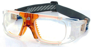 (1) Adult Prescription Sports Goggles BL018 Clear with Orange