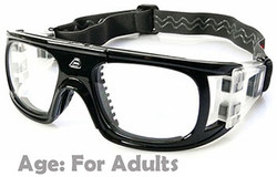 Adult Sports Goggles BL018 Black 140mm Frame Width
