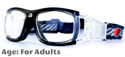 Adult Sports Goggles BL019 Black / Clear 140mm Frame Width