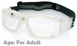 Prescription Sports Goggles BL019 Clear / White 140mm Frame Width Suitable for Adults