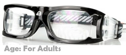 Adult Prescription Sports Goggles BL021 Black