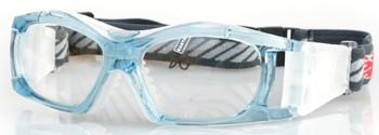 (1) Adults Prescription Sports Goggles BL023 in Blue with White Color Scheme