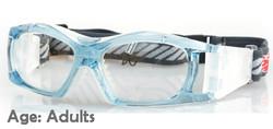 Adult Prescription Sports Goggles BL023 Blue/White
