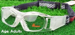 Adult Prescription Sports Goggles BL023 Clear/White