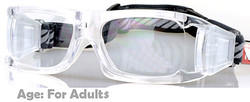 Adult Prescription Sports Goggles BL021 Clear / White with 140mm frame width