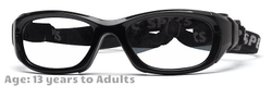 Rec Specs Maxx 31 Shiny Black Prescription Sports Goggles