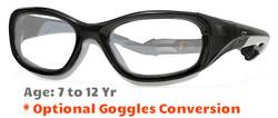 Rec Specs F8 Slam Prescription Sports Glasses in Shiny Black