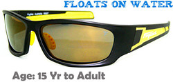 Fuglies RX07 Sports Sunglasses Shown with Optional Prescription Lenses with Brown Color Lens Tinting.  Removable Foam Gasket Not Shown.