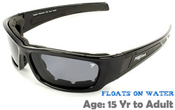 Fuglies RX08 Sports Sunglasses Shown with Optional Grey Tinted Prescription Lenses.