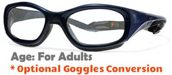 Rec Specs F8 Slam XL Prescription Sports Glasses in Navy Blue - 55 Eye Size - Adults Sized