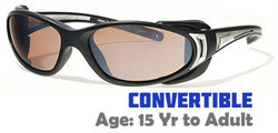 Liberty Sport CHOPPER Matte Black / Shiny Silver Convertible Sunglasses