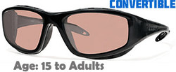 Liberty Sport TRAILBLAZER I Rx-Able Sunglasses in Translucent Black with Ultimate Drive Lens - Suitable for Ages 15 to Adult