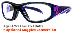 Prescription Sports Goggles Rec Specs F8 Street Series Peace & Luv Suitable for Ages 4 to Adults