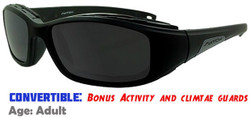 "Liberty Sport ""Switch"" STORMRIDER Rx-Able Sports Sunglasses - Shiny Black"