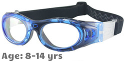 M2P MP046 Rx-able Sports Glasses in Blue - Suitable for Ages 8-14 years