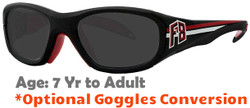 Rec Specs F8 Collegiate Prescription Sports Sunglasses Suitable for Ages 7 to Adult