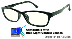 Rodessa - Black Glasses: Compatible with Optional Blue Light Control Lenses