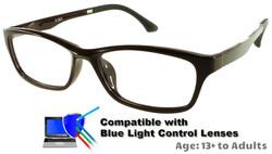 Rodessa - Burgundy Prescription Glasses  - Compatible with Blue Light Control Lenses