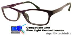 Rodessa - Purple Prescription Glasses  - Compatible with Blue Light Control Lenses