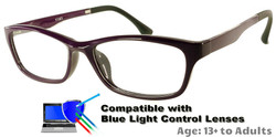 Rodessa - Purple Prescription Glasses  - Compatible with Blue Light Control Lenses