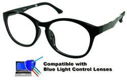 Burlington - Black Glasses: Compatible with Optional Blue Light Control Lenses