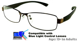 Kingswood - Bronze Glasses: Compatible with Optional Blue Light Control Lenses