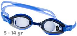 Kids Prescription Swim Goggles Blue  (Dark Grey Tinted Lenses)